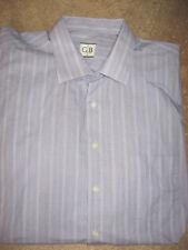Mens Purple Striped GEOFFREY BEENE Wrinkle Free Dress Shirt 18.5-35/36 Tall 2XLT