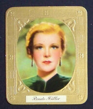 Renate Müller 1936 Aurelia Film Star Embossed Cigarette Card #55