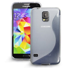 [SLIM GRIP] Samsung Galaxy S5 Case Premium Flexible S Type TPU Cover,Case-Clear