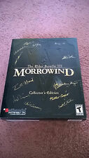 Autographed & Sealed - Elder Scrolls III: Morrowind - Collector's Edition