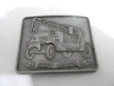 1970s VINTAGE BELT BUCKLE #09- 013 - MACK TOW TRUCK - SILVER COLOR