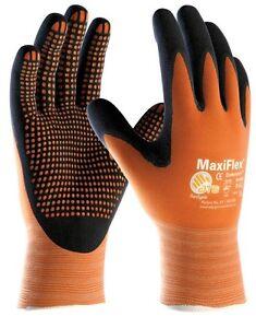 MaxiFlex Endurance 42-848 Nitrile Foam Micro Dot Palm Coated Work Gloves ORANGE