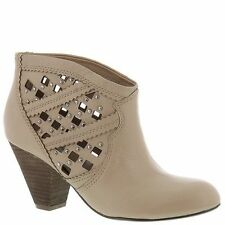 Carlos by Carlos Santana 8 39 ANKLE BOOTS SHOES Keller Leather Bone Silver Studs