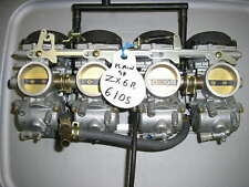 98 Kawasaki ZX6R Carburetor Set Carb Rack Carbs - Cleaning Available for $80