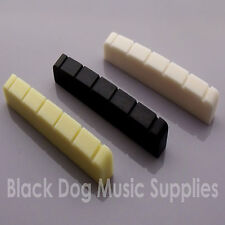 48mm 6 string  guitar top nut in black, white or ivory electric, acoustic