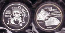 Silber Panda CHINA 1992 - 1 Unze in PP - MÜNCHEN PANDA original verschweisst