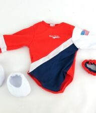 "3pc Usa Gymnastic Outfit Made to Fit 18"" American Girl Dolls Sports"