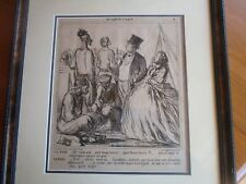 Honore Daumier France MID 1800S LITHOGRAGH AU CAMP DE ST MAUR PROFESSIONAL FRAM