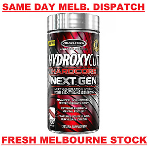 MuscleTech HYDROXYCUT HARDCORE NEXT GEN Weight Loss 100 Capsules MELBOURNE STOCK