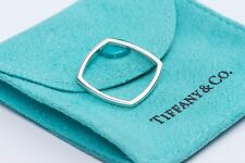 RARE Tiffany & Co. Frank Gehry Silver Micro Torque Square Ring Band Size 4.5