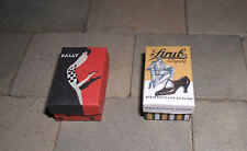 TWO HAND-MADE DOLLS' HOUSE 1/12TH SCALE ART DECO SHOE BOXES