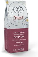 Acido Citrico Monoidrato 1KG - E330 - food grade -uso alimentare- EXTRA CEE