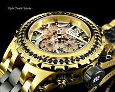 Invicta JT 52MM Reserve 5.06ctw Black SPINEL Subaqua Specialty Gold Tone Watch