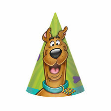 Scooby Doo Cone Hats Paper 8PK Party Decoration Birthday Lootbag Favours