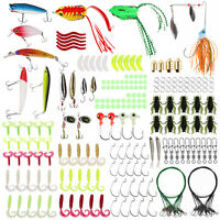 【177 PCS】Fishing Lures Kit Set with Tackle Box Fishing Gifts for Men