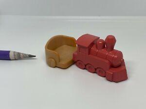 O019 Dollhouse Miniature Wood Baby Train Rider Cuddles Seating Toy baby stroller
