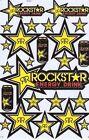 New Rockstar Energy Motocross ATV Racing stickers/decals. 1 sheet. (st78)