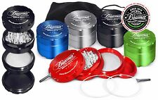 New Beamer Smoke USA 4 Piece 62mm AirCraft Grade Tobacco herbal Grinder Mill