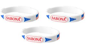3 Pack - Sabona Pro-Magnetic Patriotic Wristband, Large