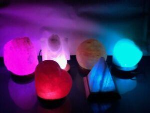 HIMALAYAN USB SALT LAMP CRYSTAL PINK ROCK SALT LAMP NATURAL HEALING 100% GENUINE