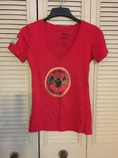Bacardi Marca De Fabrica T-Shirt Womens Red Size Medium V Neck