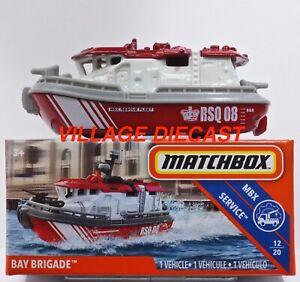 2019 Matchbox Power Grabs #94 Bay Brigade™ RED / WHITE / GREY / MBX RESCUE / MIB