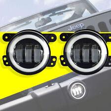 2X 30W 4 inch CREE Led Fog Light Halo for Jeep Wrangler JK TJ LJ Tractor Boat