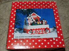 Animated Music Box Wind Up Christmas Curios With Holiday Flair