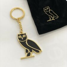 OVO Drake Owl Gold Metal Keychain Engraved w/ Bag (Same Day Shipping from NYC)