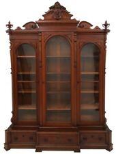 Carved Walnut 3 Door Bookcase Lot 17