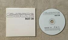 """CD AUDIO MUSIQUE / SILLICONE SOUL """"RIGHT ON!"""" 2001 1T CD SINGLE PROMO VISA 6674"""