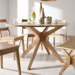 Malmo Dining Set - Dining Table & 4 Chairs White Oak Starburst Scandinavian