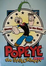 Popeye the Sailor Man Strong to The Finish Rare 1998 Vintage Poster 24 x 34