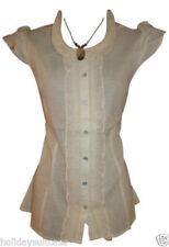Damenblusen, - tops & -shirts mit klassischem Kragen im Passform Spitze