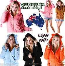 Cute & Super Soft Hoodie 8 10 12 14 16 18 Fleece Winter Bunny Jumper Sweater Hot