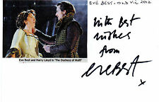 ENGLISH ACTRESS EVE BEST HANDSIGNED 6 x 4 AUTOGRAPHED WHITE CARD