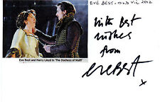 ENGLISH ACTRESS EVE BEST HAND SIGNED 6 x 4 AUTOGRAPHED WHITE CARD