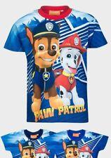 Paw Patrol Boys T-Shirt Top 2-3 3-4 5-6 7-8 Years Marshall & Chase Stripe