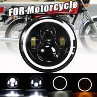 "7""inch DOT Approve LED Headlight Halo Headlamp for Honda Ymaha Suzuki Motorcycle"