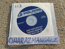 2007 Polaris Outlaw 525 Service Manual OEM on CD