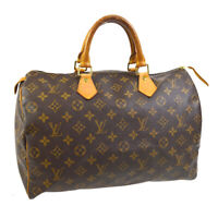 LOUIS VUITTON SPEEDY 35 HAND BAG PURSE MONOGRAM CANVAS SP0040 M41524 A54794