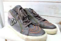 True Religion 12 Brown Leather Men's Shoes Sneakers