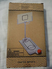 Mini Foldable Tabletop Spring Loaded Basketball Game Desktop Toy Indoor Ball New
