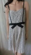 "ALANNAH HILL Beige ""Cheek to Cheek"" Lace With Black Dress Sz 14"
