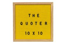 Felt Letter Board Yellow 10X10 With 346 Letters, Numbers, Emoji and Symbols
