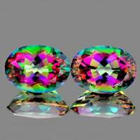 Mystic Topaz Oval 16x12 mm 2 pieces,Flawless-VVS Clarity, Natural Loose Gemstone