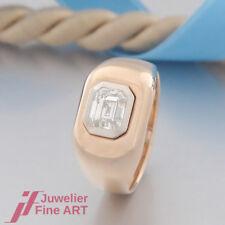KUCK Solitär-Ring mit 1 Diamant, Smaragdschliff - 18K/750 Gelbgold/Weißgold
