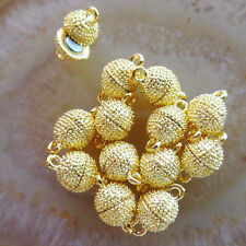 12 Sets 13x8mm Gold Plated Necklace Magnetic Clasp For Jewelry W8374