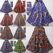 Dashiki Maxi Skirts African Wax Print Fabric Ankara Maxi Style Skirts Plus Size
