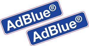 2x AdBlue Printed Vinyl Stickers 80mm x 24mm Car Van Diesel Eco